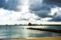 横跨植物学海湾的看法 免版税库存照片