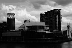 横跨河Irwell的看法 免版税库存图片