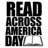 读横跨美国天设计 免版税库存图片