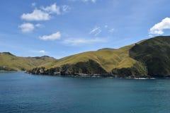 横跨直接厨师的轮渡在新西兰 库存图片