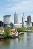 横跨Cuyahoga 免版税库存图片