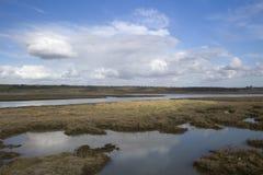 横跨Haleigh光芒的看法, Canvey海岛,艾塞克斯,英国 图库摄影