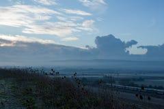 横跨Ouse谷的黎明 免版税库存图片