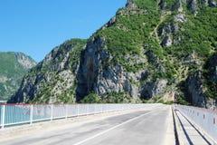横跨Piva河的一座桥梁在黑山 库存照片