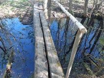 横跨The Creek的强的桥梁 免版税图库摄影