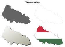 横过喀尔巴阡山脉空白的概述地图设置了-匈牙利语版本 皇族释放例证
