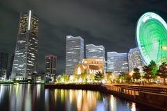 横滨地平线在晚上 免版税库存照片