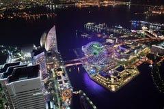 横滨市,日本鸟瞰图  免版税图库摄影