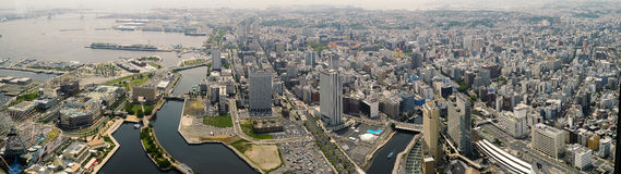 横滨海湾和市全景  库存照片