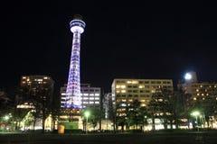 横滨海洋塔在神奈川,日本 库存图片