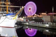 横滨港口看法在日本 库存图片