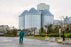 横滨Isogo热电厂 免版税库存图片
