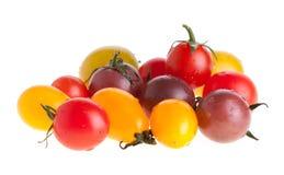 樱桃五颜六色的蕃茄 图库摄影