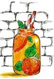 樱桃分支水彩剪影多汁 向量例证