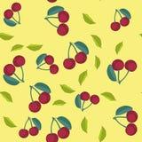 樱桃动画片无缝的纹理654 向量例证