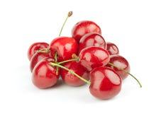 樱桃堆积甜点 免版税图库摄影