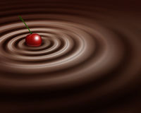 樱桃巧克力漩涡丝毫 库存例证