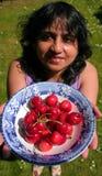 樱桃提供 免版税库存照片