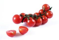 樱桃新鲜的吸引的蕃茄 免版税库存照片