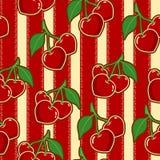 樱桃无缝的样式 向量例证