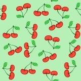 樱桃无缝的纹理 免版税库存照片