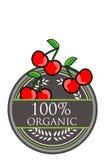 樱桃有机标签 图库摄影