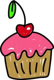 樱桃杯形蛋糕 库存照片