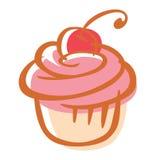 樱桃杯形蛋糕 免版税库存图片