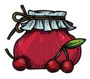 樱桃果酱的动画片图象 皇族释放例证