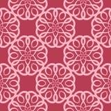樱桃桃红色花卉无缝的样式 向量例证