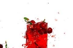 樱桃汁甜点 免版税库存照片
