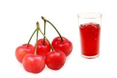 樱桃汁 免版税库存图片