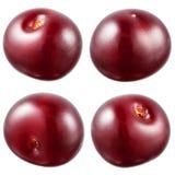 樱桃汇集。在白色隔绝的莓果。 免版税库存图片