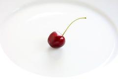 樱桃牌照 免版税库存照片