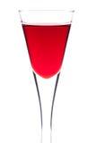 樱桃玻璃酒 免版税库存图片