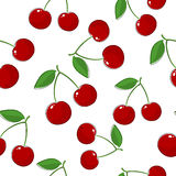 樱桃的无缝的样式 免版税库存照片