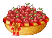 樱桃篮子  库存图片