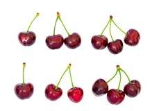 樱桃红甜点 免版税库存照片