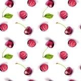 樱桃红重复样式 向量例证