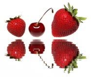 樱桃草莓 图库摄影