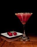 樱桃酸的马蒂尼鸡尾酒 图库摄影