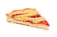 樱桃饼切片 库存照片