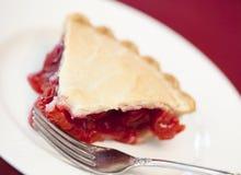 樱桃饼片式 库存图片