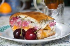 樱桃饼的照片 免版税图库摄影