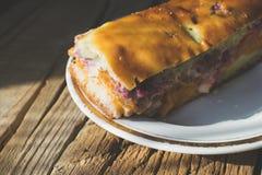 樱桃饼的照片 免版税库存图片
