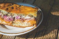 樱桃饼的照片 免版税库存照片