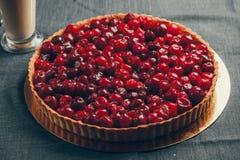 樱桃馅饼 库存图片