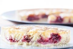 樱桃Bakewell馅饼 免版税图库摄影