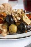 橄榄和蘑菇开胃小菜 免版税库存照片
