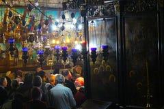 橄榄山、圣玛丽教会和维尔京的坟茔,大面包和鱼的Jerusaleation在Tabgha,以色列 朝圣 免版税库存照片